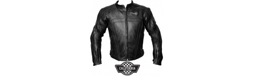 GIUBBOTTO MOTO PELLE CALIFORNIA GARAGE NERO