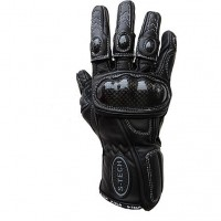 GUANTO RACING IN PELLE S-TECH SPORT1 NERI CON INSERTI IN CARBONIO