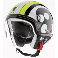 CASCO DEMI-JET HELMO OTTOVOLANTE YELLOW RACE