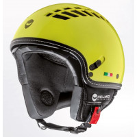 CASCO DEMI-JET HELMO VIA COL VENTO YELLOW RACE