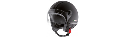 CASCO DEMI-JET HELMO PELLEDURA RUBBER BLACK LEATHER BLACK