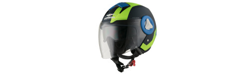 CASCO MOTO JET VEMAR BREEZE RADAR VERDE